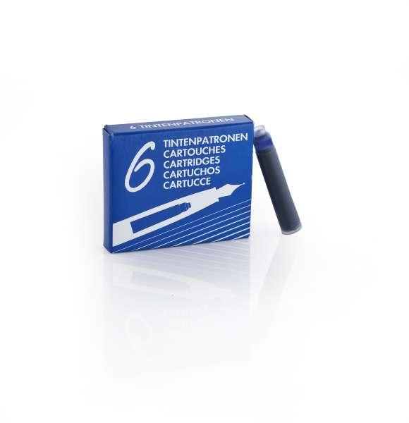 Waldmann 0125 Packung mit 6 Tintenpatronen blau