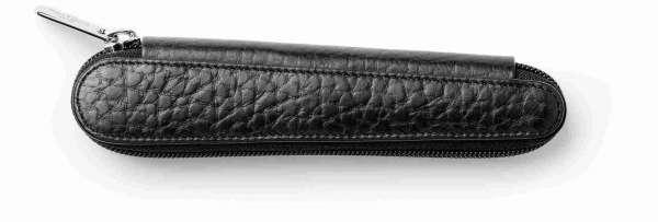Faber-Castell Lederetui Design 1er schwarz genarbt Reißverschluß, 189303