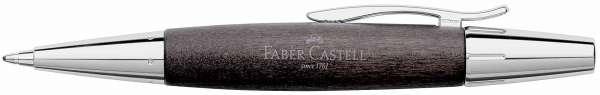 Faber-Castell Drehkugelschreiber e-motion Holz Chrom schwarz, 148383