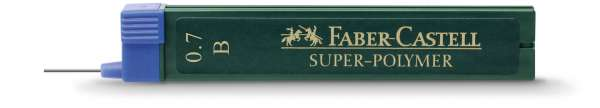 Faber-Castell Feinmine für Bleistifte 0,7mm B 12 Stück, 120701