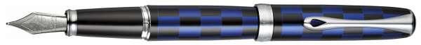 Diplomat Füllhalter Excellence A plus Rome schwarz-blau, Feder EF, D40103021