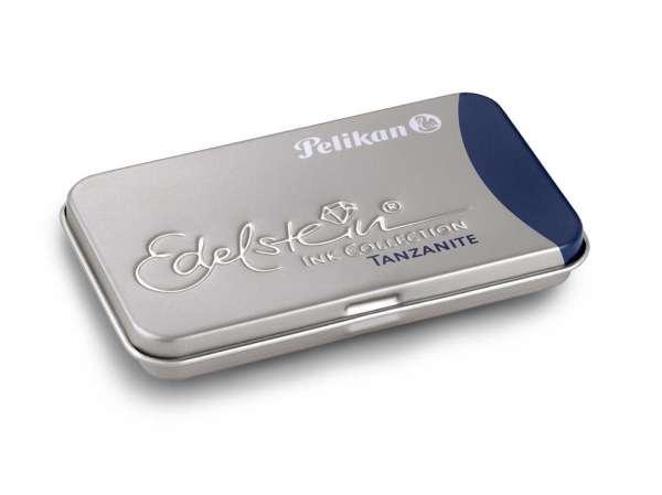 Pelikan Tintenpatrone Tanzanite GTP/6 Edelstein im Metalletui, 339689