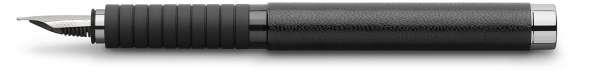 Faber-Castell Füllhalter BASIC Black Leder, Feder F, 148831