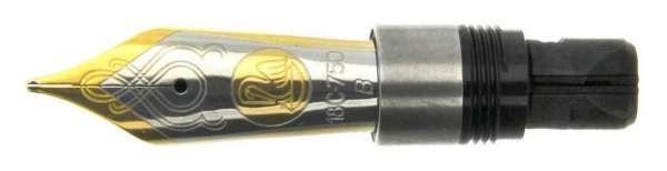Pelikan Feder M1000 M1050 18Kt-Gold bicolor EF 999516