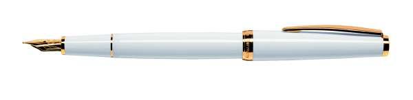 Cleo Classic Füllhalter B-Goldfeder 14Kt Gold weiß 24152
