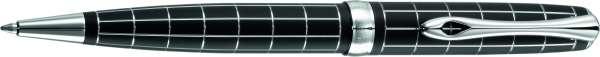 Diplomat Kugelschreiber Excellence A plus Raute guillochiert lapis schwarz, D40101040