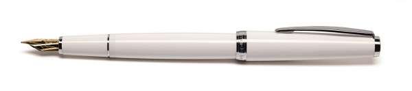 Cleo Classic Füllhalter M-Goldfeder 14Kt Palladium weiß 24107