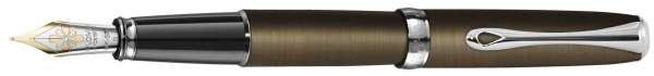 Diplomat Füllhalter Excellence A2 Oxid Messing, 14kt Goldfeder F, D40217013
