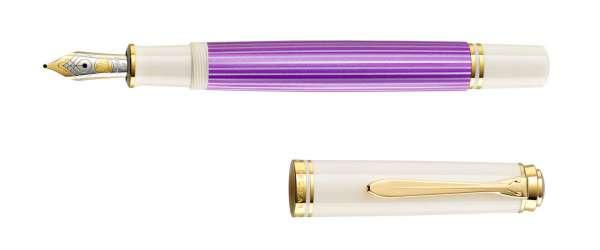 Pelikan Füllhalter Souverän M600 - Violett-Weiß, Goldfeder 14kt-B 811859 - Special Edition
