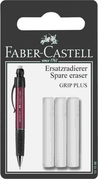 Faber-Castell Ersatzradierer für Bleistift GRIP PLUS 3 Stück, 131598