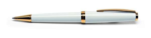 Cleo Classic Kugelschreiber Gold weiß 24124