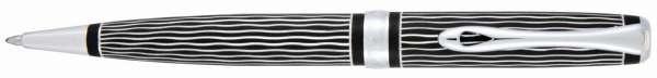 Diplomat Kugelschreiber Excellence A plus Wave guillochiert lapis schwarz, D40104040