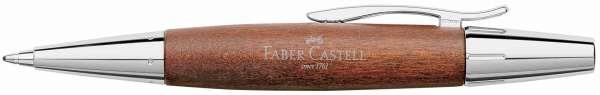 Faber-Castell Drehkugelschreiber e-motion Holz Chrom braun, 148382