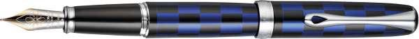 Diplomat Füllhalter Excellence A plus Rome schwarz-blau, 14kt Goldfeder F, D40103013