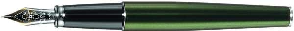 Diplomat Füllhalter Excellence A2 Evergreen chrom, 14kt Goldfeder EF, D40212011