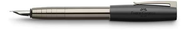 Faber-Castell Füllhalter LOOM gunmetal glänzend, Feder F, 149241