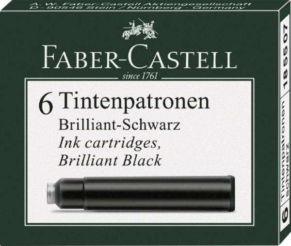 Faber-Castell Tintenpatronen Standard schwarz 6er, 185507