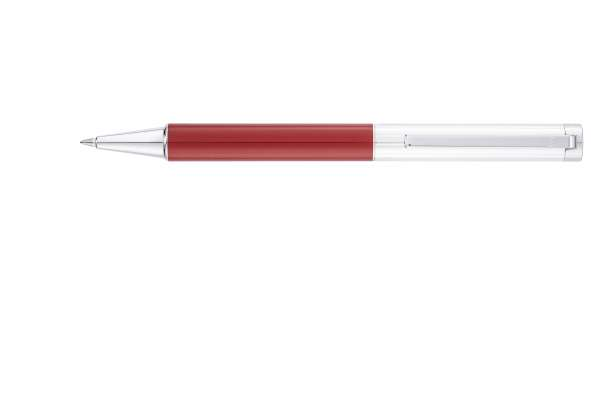 "Waldmann 2329 Cosmo Drehbleistift, Linien-Design silber / Lack Metallic ""Red-Fire"""