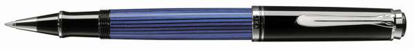 Pelikan Tintenroller Souverän R405 - Schwarz-Blau-Silber 933010