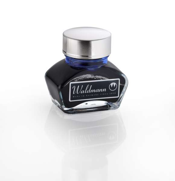 Waldmann 0123 Tintenglas, 30 ml - blau