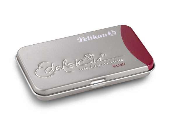 Pelikan Tintenpatrone Ruby GTP/6 Edelstein im Metalletui, 339663