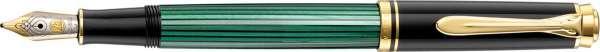 Pelikan Füllhalter Souverän M300 Schwarz-Grün - Goldfeder 14kt-M 901512