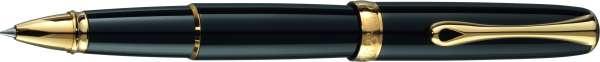 Diplomat Tintenroller Excellence A2 Lack schwarz vergoldet, D40203030