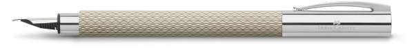 "Faber-Castell Füllhalter AMBITION OpArt ""White Sand"", Feder EF, 149622"