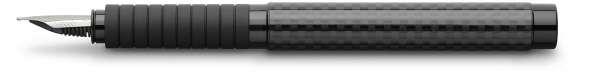 Faber-Castell Füllhalter BASIC Black Carbon, Feder F, 148821