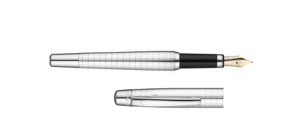 Waldmann 4745 Füllhalter Concorde, Goldfeder B, Quadrat-Design
