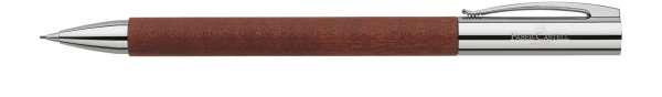 Faber-Castell Drehbleistift 0,7mm-B AMBITION Birnbaum braun, 138131