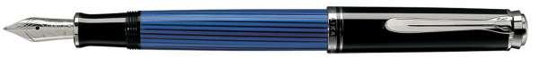 Pelikan Füllhalter Souverän M405 - Schwarz-Blau-Silber Goldfeder 14kt-B 932939