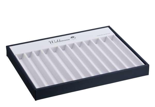 Waldmann 0141 Vorlagedisplay für 12 Schreibgeräte, blau/weiß