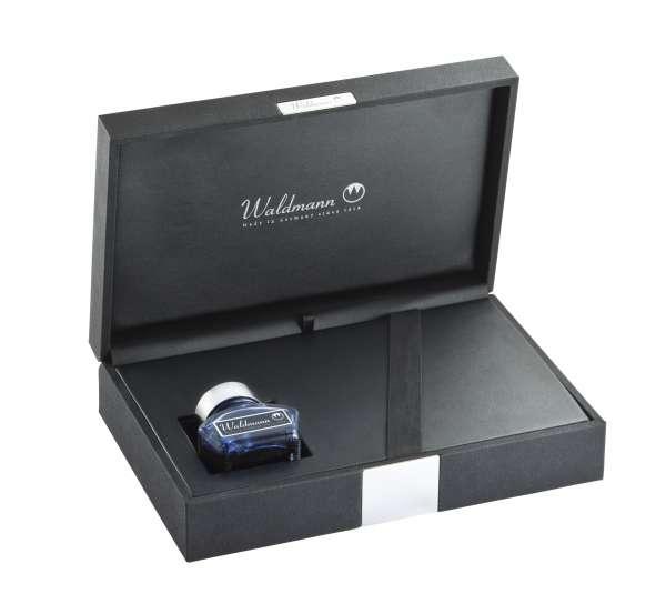 Waldmann 0132 Royal Box, für 1-2 Schreibgeräte, mit Tintenfass und Converter
