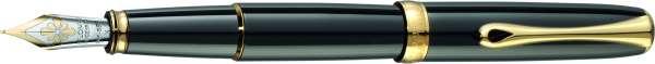 Diplomat D10052082 Füllhalter Excellence A Lack schwarz vergoldet, F 14kt Goldfeder