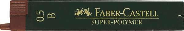 Faber-Castell Feinmine für Bleistifte 0,5mm B 12 Stück, 120501