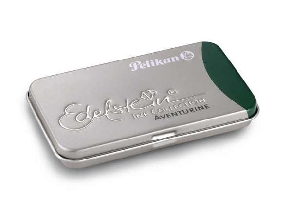 Pelikan Tintenpatrone Aventurine GTP/6 Edelstein im Metalletui, 339671