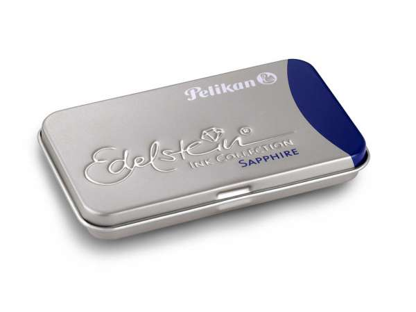 Pelikan Tintenpatrone Sapphire GTP/6 Edelstein im Metalletui, 339630