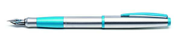 Cleo Colour Füllhalter F-Feder matt aquablau 20840