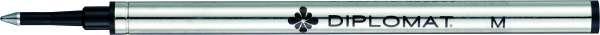 Diplomat D10301307 Tintenroller Minen Metall schwarz