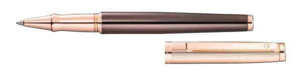 Waldmann 0053 Tuscany Rollerball, Linien-Design Rosegold / PVD schoko
