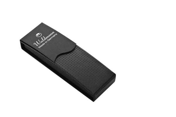 Waldmann 0133 Etui mit Carbon-Effekt, für Schreibgeräte