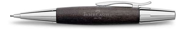 Faber-Castell Drehbleistift 1,4mm-B e-motion Holz Chrom schwarz, 138383