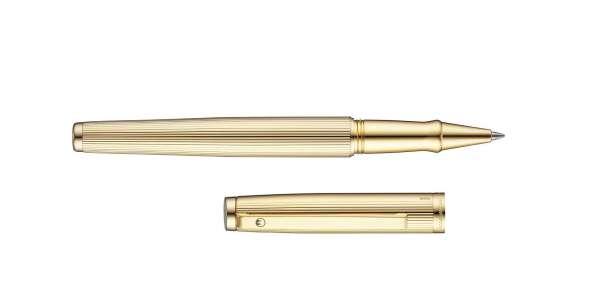Waldmann 0309 Rollerball Tuscany, Linien-Design goldplattiert