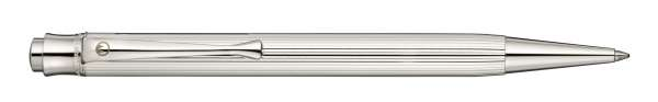 Waldmann 0003 Tango Druckkugelschreiber, Linien-Design silber