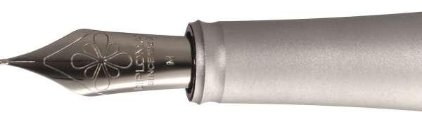Diplomat D15030323 Federaggregat für Aero braun & silber Edelstahlfeder, F