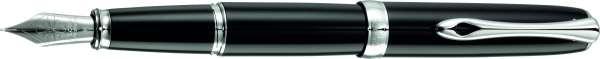 Diplomat D20000871 Füllhalter Excellence A Plus Lack schwarz, F Stahlfeder