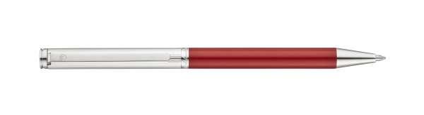 """Waldmann 0358 Brio Drehkugelschreiber, Linien-Design silber / Lack Metallic """"Red-Fire"""""""