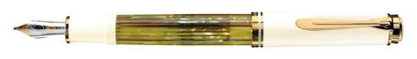 Pelikan Füllhalter Souverän M400 - Schildpatt-Weiß, Goldfeder 14kt-M 935551