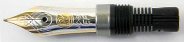 Pelikan Feder M400 14Kt-Gold bicolor EF 998955